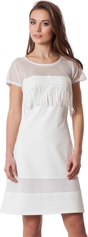 Sukienka Semper z krótkim rękawem mini z okrągłym dekoltem