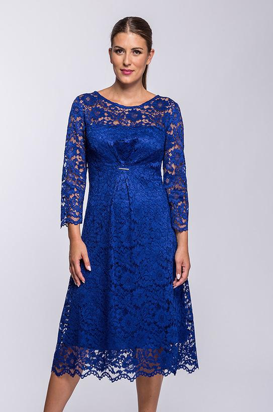 Sukienka Semper z okrągłym dekoltem