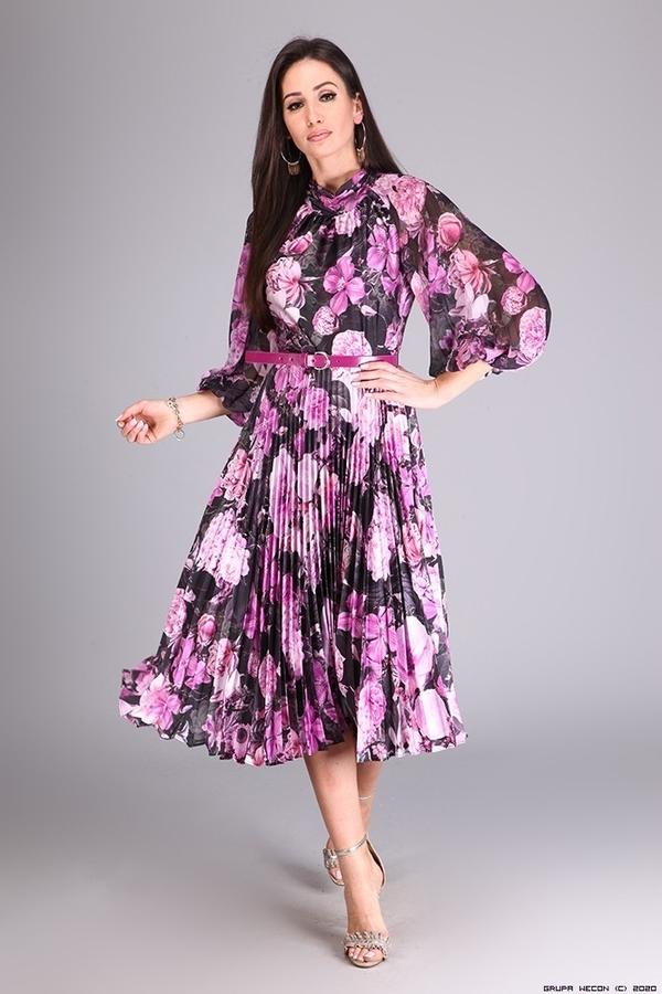 Sukienka Setre Paris z długim rękawem z satyny