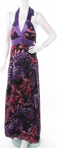 Sukienka Sharon prosta z dekoltem w kształcie litery v maxi