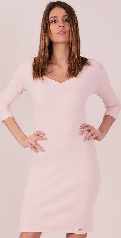 Sukienka Sheandher.pl z długim rękawem z dekoltem w kształcie litery v