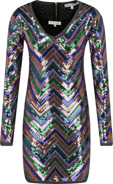 Sukienka Silvian Heach w stylu glamour z dekoltem w kształcie litery v dopasowana