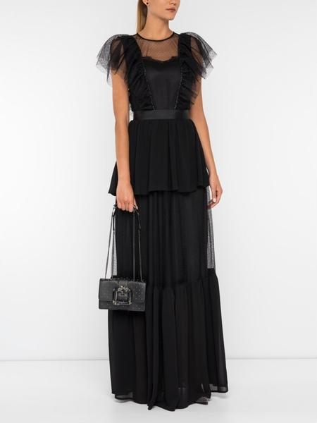 Sukienka Silvian Heach z okrągłym dekoltem maxi