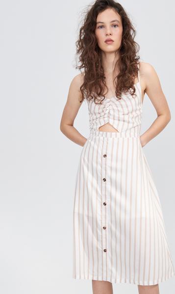 Sukienka Sinsay szmizjerka z dekoltem w kształcie litery v