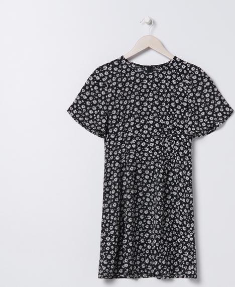 Sukienka Sinsay z okrągłym dekoltem oversize w stylu casual