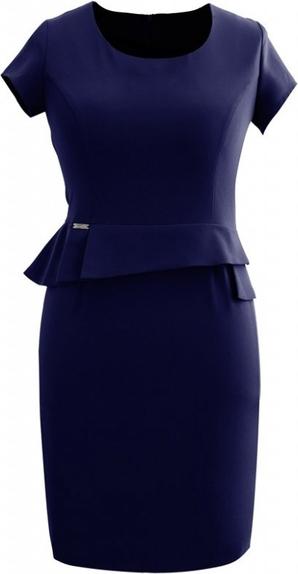 Sukienka Sklep XL-ka baskinka z okrągłym dekoltem mini