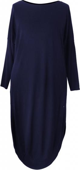 Sukienka Sklep XL-ka z długim rękawem z tkaniny