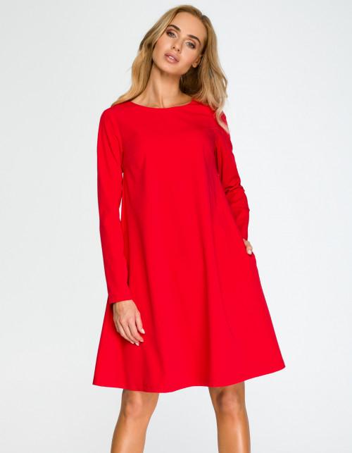 Sukienka Style mini z szyfonu