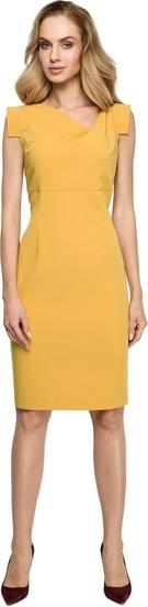 Sukienka Style z dekoltem w kształcie litery v z tkaniny ołówkowa