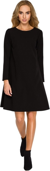 Sukienka Style z okrągłym dekoltem z długim rękawem