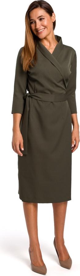 Sukienka Stylove kopertowa z długim rękawem z dekoltem w kształcie litery v