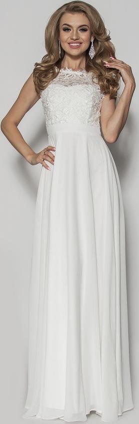 Sukienka Sukienki M&M bez rękawów maxi z dekoltem w kształcie litery v