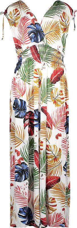 Sukienka Summer Time bez rękawów z dekoltem w kształcie litery v prosta