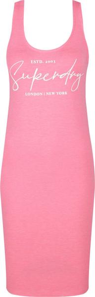 Sukienka Superdry z okrągłym dekoltem na ramiączkach w stylu casual