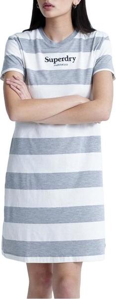 Sukienka Superdry z okrągłym dekoltem z krótkim rękawem