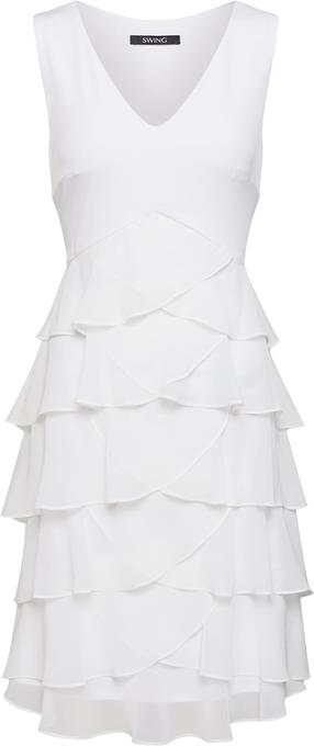 Sukienka Swing bez rękawów trapezowa mini