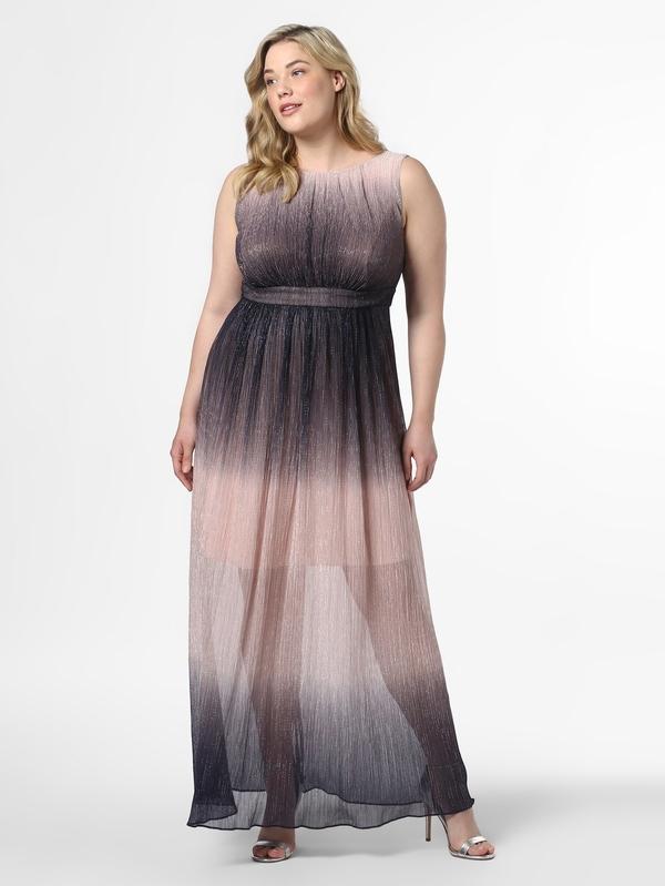 Sukienka Swing Curve z okrągłym dekoltem dla puszystych maxi