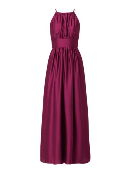 Sukienka Swing maxi z dekoltem halter