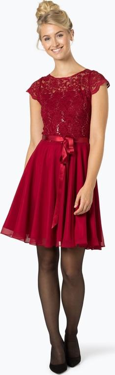 Sukienka Swing midi w stylu glamour z okrągłym dekoltem