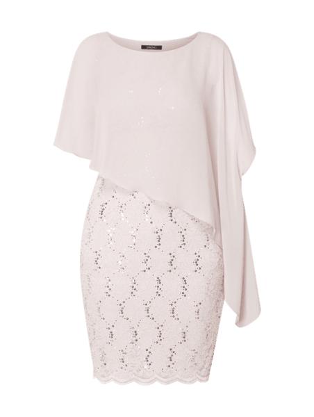 Sukienka Swing z krótkim rękawem w stylu glamour