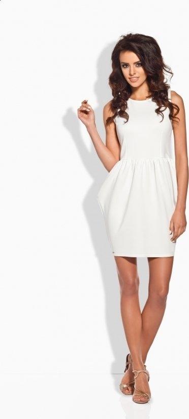 Sukienka TAGLESS bombka z okrągłym dekoltem bez rękawów