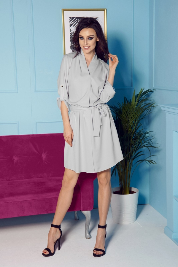Sukienka TAGLESS koszulowa z długim rękawem