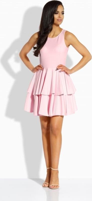 Sukienka TAGLESS rozkloszowana mini z okrągłym dekoltem