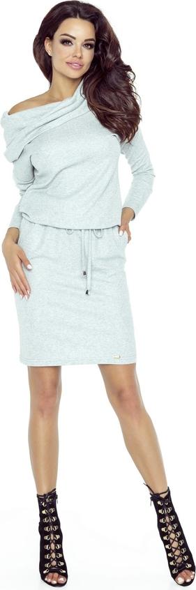 Sukienka TAGLESS w stylu casual prosta z długim rękawem