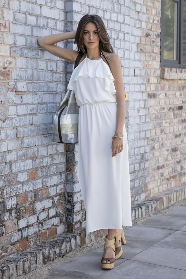 Sukienka TAGLESS w stylu casual z dekoltem halter maxi