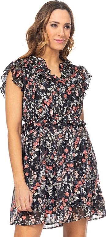 Sukienka Tantra z krótkim rękawem z dekoltem w kształcie litery v