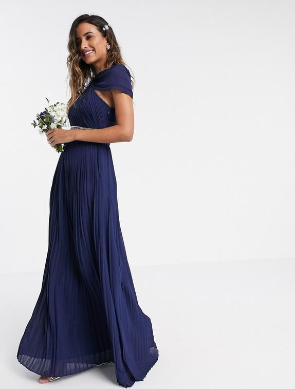 Sukienka Tfnc maxi z krótkim rękawem