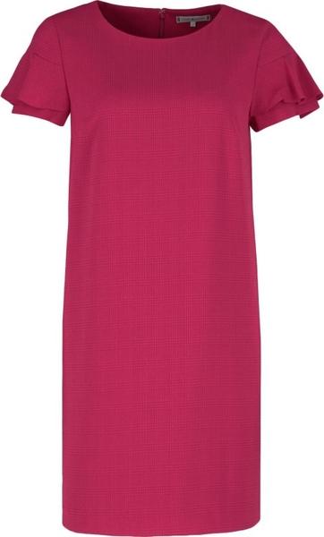 Sukienka Tommy Hilfiger z krótkim rękawem w stylu casual z okrągłym dekoltem