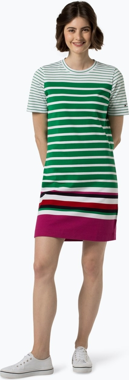 Sukienka Tommy Hilfiger z krótkim rękawem z okrągłym dekoltem prosta