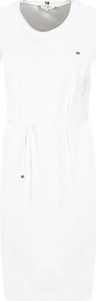 Sukienka Tommy Hilfiger z okrągłym dekoltem prosta mini