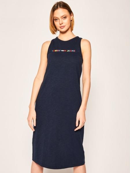 Sukienka Tommy Jeans bez rękawów prosta