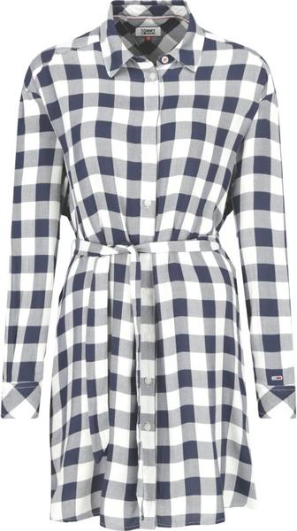 Sukienka Tommy Jeans koszulowa z kołnierzykiem
