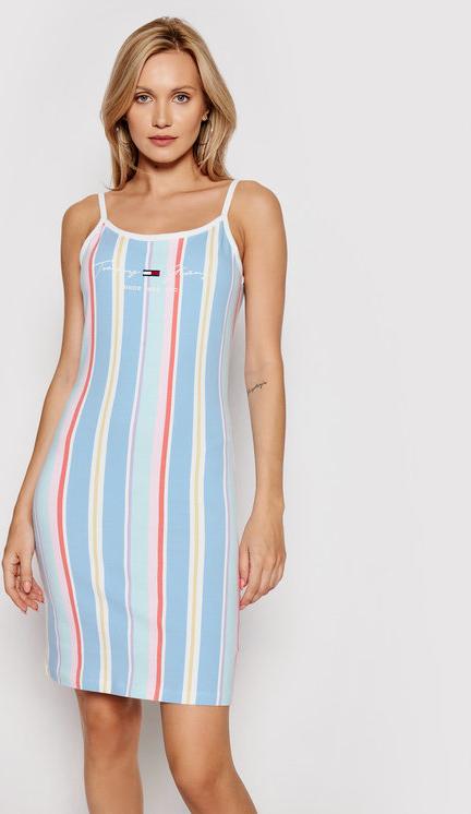 Sukienka Tommy Jeans na ramiączkach w stylu casual