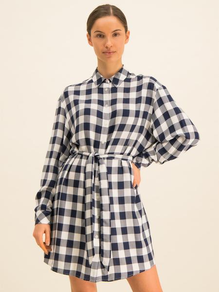 Sukienka Tommy Jeans z długim rękawem mini w stylu casual