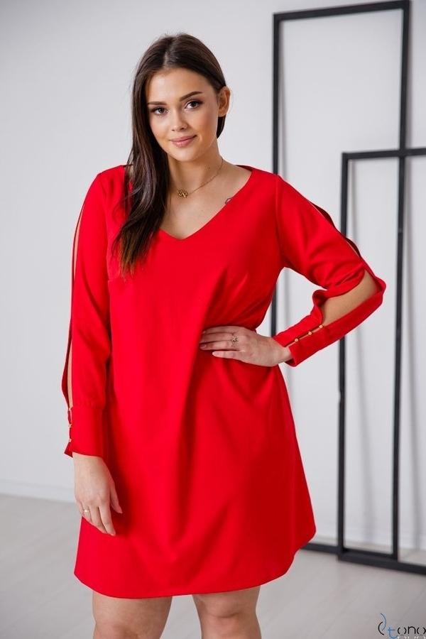 Sukienka tono.sklep.pl w stylu casual mini z długim rękawem