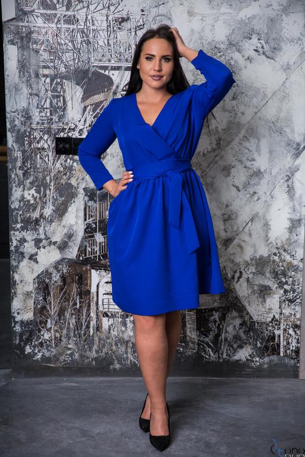 Sukienka tono.sklep.pl z długim rękawem dla puszystych midi