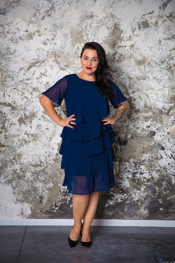 Sukienka tono.sklep.pl z okrągłym dekoltem
