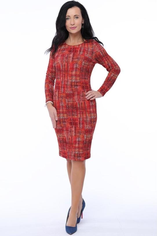 Sukienka Top-Bis z długim rękawem z okrągłym dekoltem