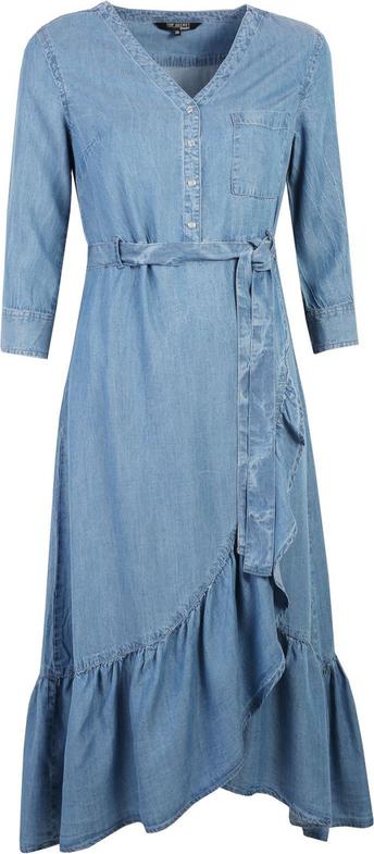 Sukienka Top Secret asymetryczna z długim rękawem midi
