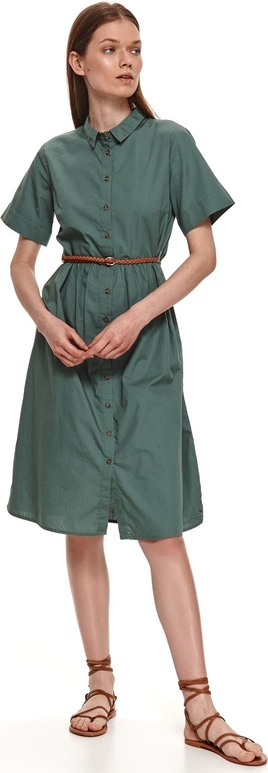 Sukienka Top Secret midi z krótkim rękawem koszulowa