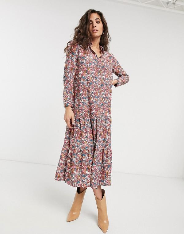Sukienka Topshop szmizjerka z długim rękawem