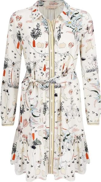 Sukienka Tory Burch mini z jedwabiu w stylu casual