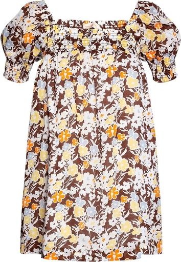 Sukienka Tory Burch z krótkim rękawem z dekoltem w kształcie litery v mini