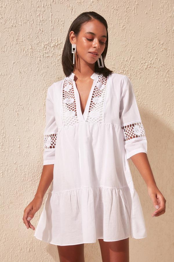 Sukienka Trendyol w stylu casual mini z długim rękawem