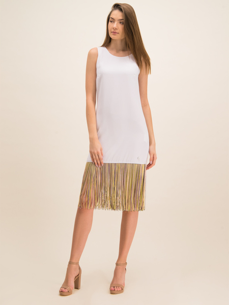 Sukienka Trussardi Jeans bez rękawów z okrągłym dekoltem