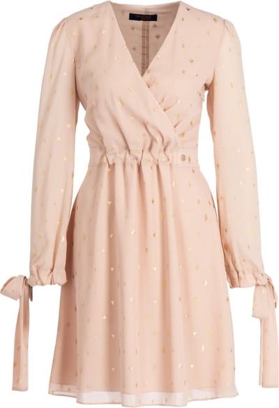 Sukienka Trussardi Jeans z długim rękawem mini kopertowa